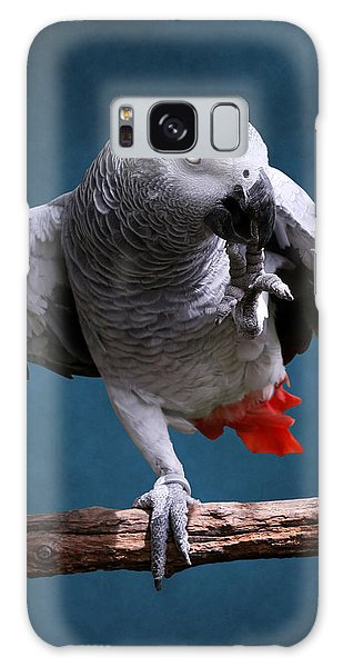 Secretive Gray Parrot Galaxy Case