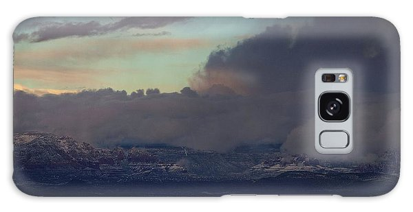 Galaxy Case featuring the photograph Sedona At Sunset With Red Rock Snow by Ron Chilston