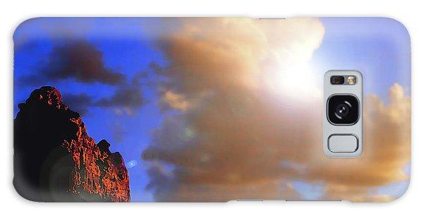 Sedona Mountain Cloud Sun Galaxy Case