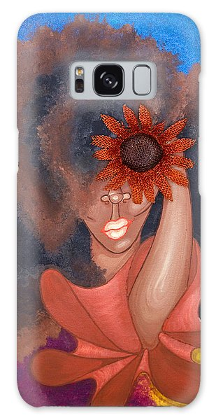 Galaxy Case featuring the painting See No Evil by Aliya Michelle