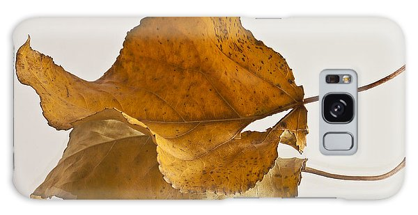 Seeing Double Autumn Leaf  Galaxy Case by Sandra Foster