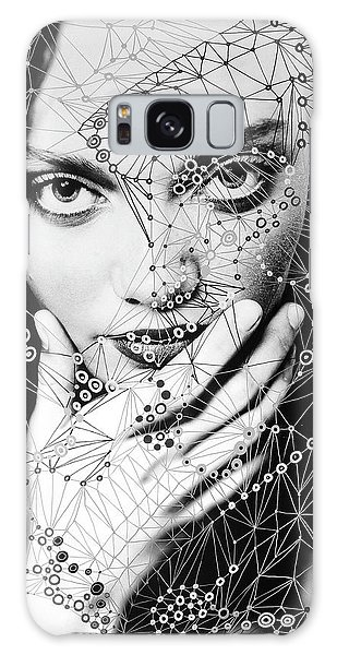 Galaxy Case featuring the mixed media Seeing Yourself From Within by Maria Lankina