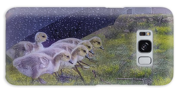 Seeking Shelter From The Storm Digital Artwork By Mary Lou Chmur Galaxy Case
