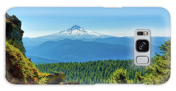 Mt Hood Seen From Beyond Galaxy Case
