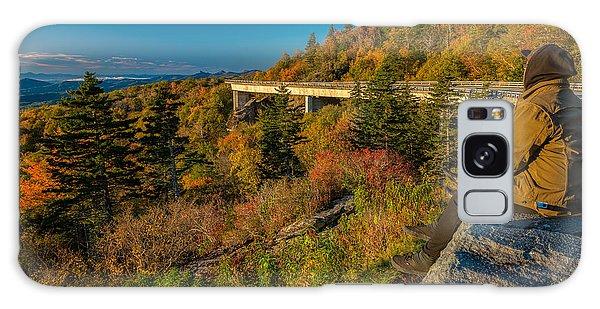 Seize The Day At Linn Cove Viaduct Autumn Galaxy Case