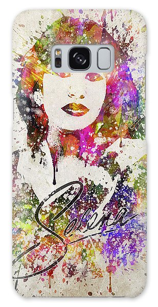 Selena Quintanilla In Color Galaxy Case by Aged Pixel