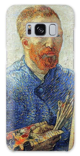 Galaxy Case featuring the painting Self Portrait As An Artist by Van Gogh