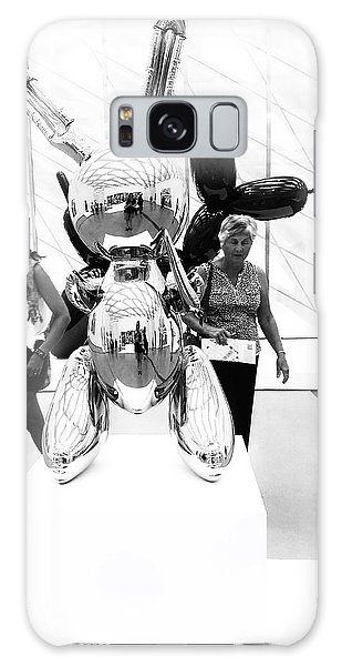 Self Portrait In Jeff Koons Mylar Rabbit Balloon Sculpture Galaxy Case
