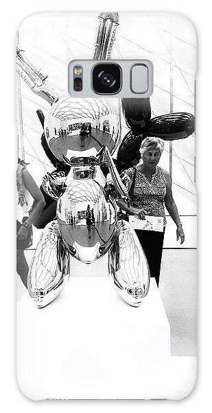 Self Portrait In Jeff Koons Mylar Rabbit Balloon Sculpture Galaxy Case