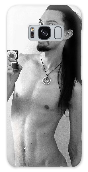 Galaxy Case featuring the photograph Self Portrait The Mirror Bw by Shawn Dall