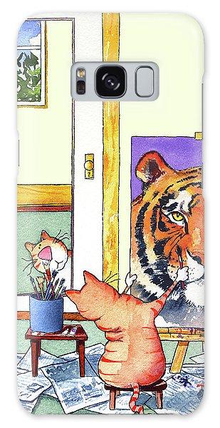 Tabby Galaxy Case - Self Portrait, Tiger by Jim Tweedy