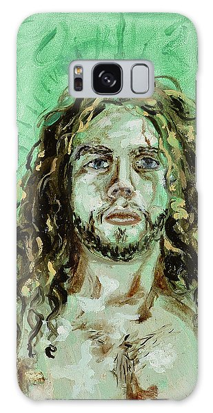 Self Portrait -with Emerald Green And Mummy Brown- Galaxy Case