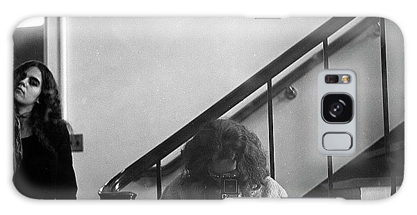 Self-portrait, With Woman, In Mirror, Cropped, 1972 Galaxy Case