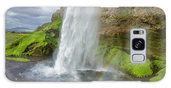 Seljalandsfoss With Rainbow, Iceland Galaxy Case