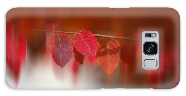 Semi Abstract Red Leaves Galaxy Case