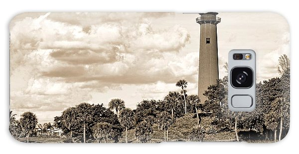 Sepia Lighthouse Galaxy Case