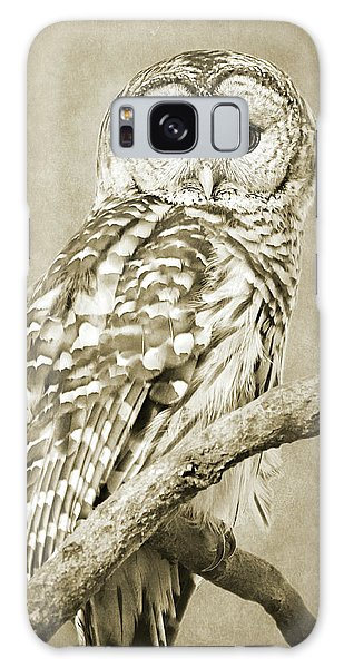 Sepia Owl Galaxy Case