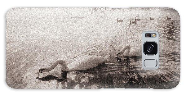 Sepia Swans Galaxy Case