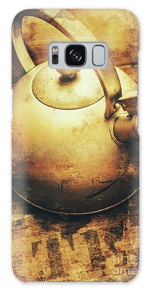 Sepia Toned Old Vintage Domed Kettle Galaxy Case