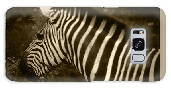 Sepia Zebra Galaxy Case by Greg Slocum
