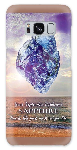 September Birthstone Sapphire Galaxy Case