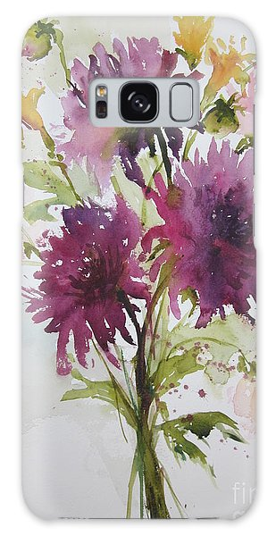 September Dahlias Galaxy Case