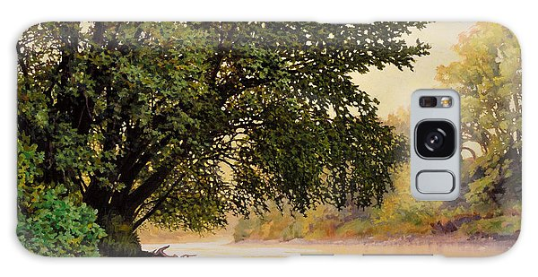 September Dawn, Little Sioux River - Studio Painting Galaxy Case