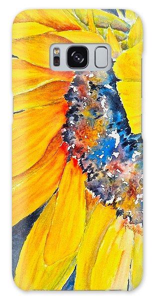 September Sunflower Galaxy Case by Carolyn Rosenberger