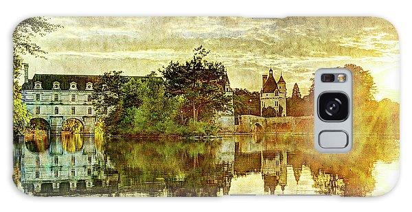 September Sunset In Chenonceau - Vintage Version Galaxy Case