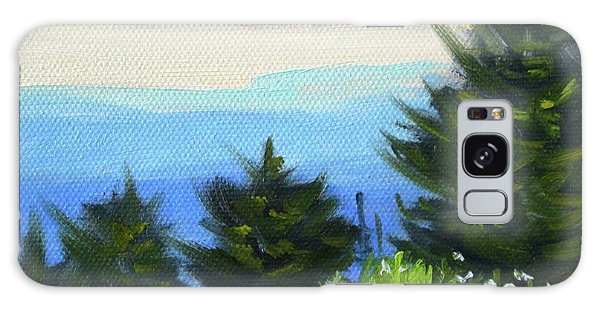 Galaxy Case featuring the painting Sequim Vista by Nancy Merkle