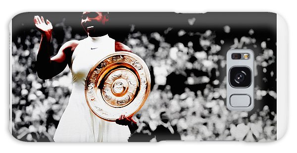 Serena 2016 Wimbledon Victory Galaxy Case by Brian Reaves