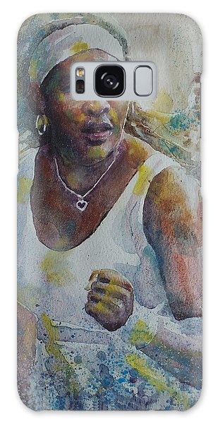 Serena Williams - Portrait 5 Galaxy Case by Baresh Kebar - Kibar