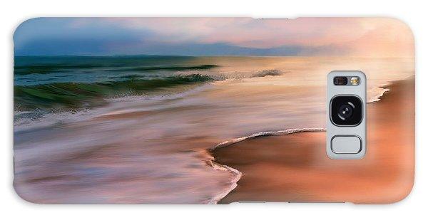 Serene Beach At Sunrise Galaxy Case