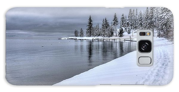 Serene Beauty Of Lake Tahoe Winter Galaxy Case