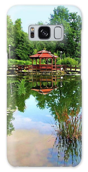 Serene Garden Galaxy Case by Mariola Bitner
