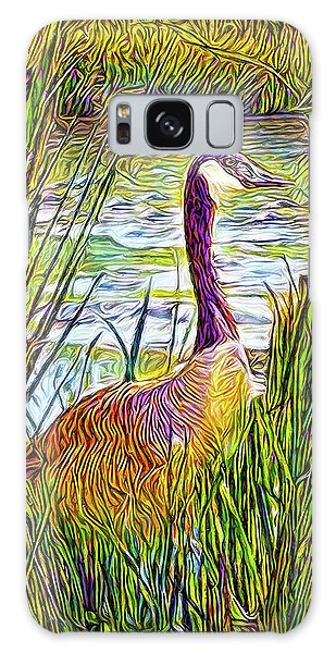 Serene Goose Dreams Galaxy Case