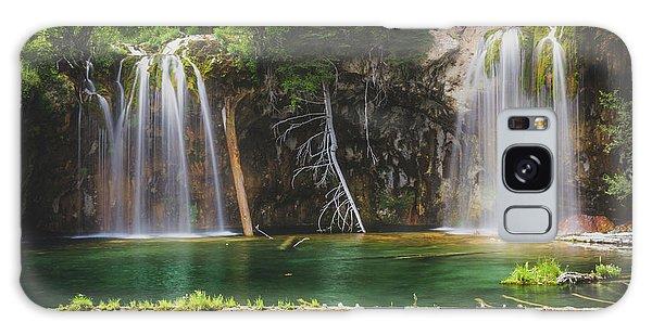 Serene Hanging Lake Waterfalls Galaxy Case