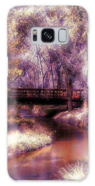 Serene River Bridge Galaxy Case by Michelle Frizzell-Thompson