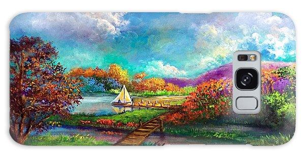 Serenely Sailing  Navegando Serenamente Galaxy Case