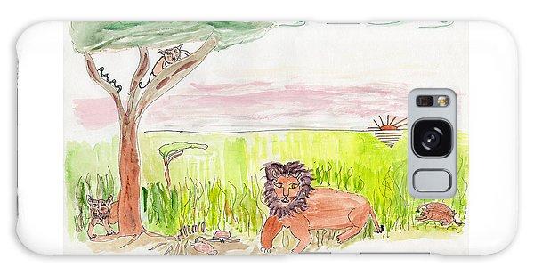 Serengeti Cats Galaxy Case