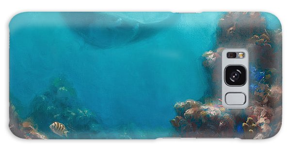 Serenity - Hawaiian Underwater Reef And Manta Ray Galaxy Case