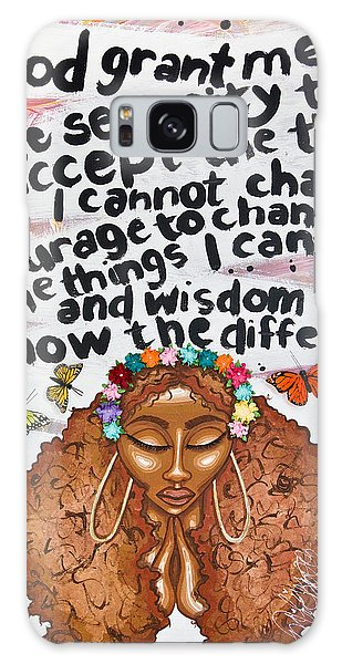 Galaxy Case featuring the painting Serenity Prayer by Aliya Michelle