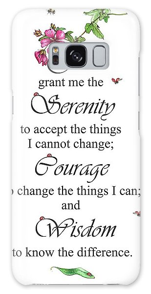 Serenity Prayer Galaxy Case