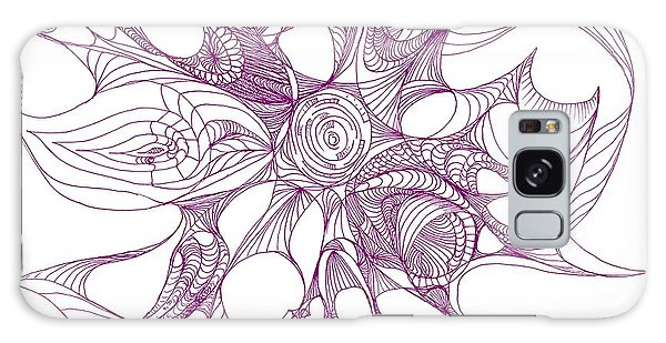 Serenity Swirled In Purple Galaxy Case by Charles Cater
