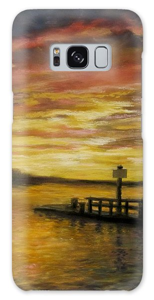 Sesuit Harbor At Sunset Galaxy Case