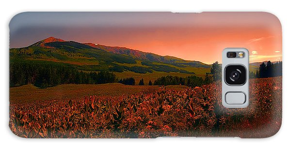Setting Sun In Crested Butte Galaxy Case by Tom Potter
