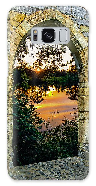 Galaxy Case featuring the photograph Setting Sun On Ireland's Shannon River by James Truett