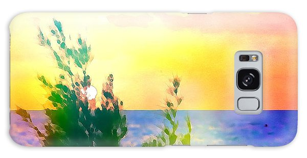 Pastel Colors On The Atlantic Ocean In Cancun Galaxy Case