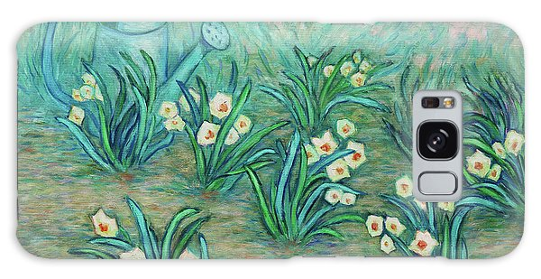 Galaxy Case featuring the painting Seven Daffodils by Xueling Zou