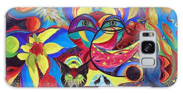Night Of The Wolf Galaxy Case by Marina Petro